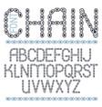 script modern alphabet letters set capital vector image vector image
