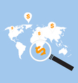 search money around the world vector image