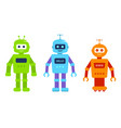 set cute cartoon robots for games electronic vector image