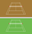 set of tennis courts vector image