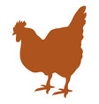 silhouette hen isolated vector image vector image