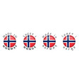 simple made in norway laget i norge norwegian vector image vector image