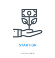 start-up symbol line flat icon vector image vector image