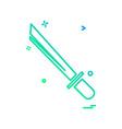sword icon design vector image vector image