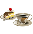 tea and cake vector image