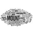 telescope mounts text background word cloud vector image vector image