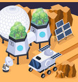 terraforming mars isometric composition vector image