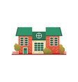 traditional cottage building real estate front vector image vector image