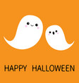 two flying floating ghost spirit set happy vector image vector image