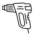 welder pistol icon outline style vector image vector image
