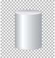 white cylinder isolated on transparent background vector image