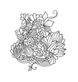 Zentangle floral pattern vector image vector image