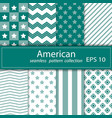 a set of eight paintings seamless fabric nautical vector image