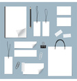 Collection of various papers paper sheets lined vector image