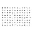 a huge collection of trendy unusual symbols vector image
