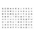 a huge collection trendy unusual symbols vector image vector image