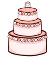 A simple drawing of a wedding cake