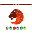 abstract lion logo red edition vector image