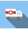 Ambulance flat icon vector image vector image