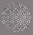 arabic decorative round element with stars vector image vector image