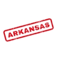 Arkansas Text Rubber Stamp vector image vector image