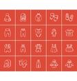 Baby clothes sketch icon set vector image vector image
