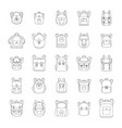 backpack school sport icons set outline style vector image vector image