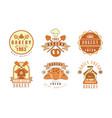 bakery logo design collection fresh bread best vector image vector image