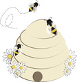 Bee Hive vector image