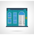 Blue storefront wall flat color design icon vector image vector image
