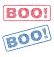 boo exclamation textile stamps vector image vector image