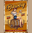 brewing colorful vintage poster vector image vector image