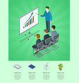 business meeting isometric 3d infographics vector image