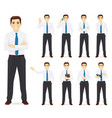 businessman set vector image vector image