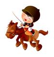 cartoon equestrian boy vector image