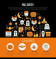 cartoon halloween concept in half circle vector image vector image