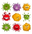 Cartoon viruses characters isolated vector image vector image