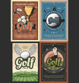 champions league golf school club players posters vector image vector image