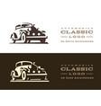classic car logo design vector image vector image