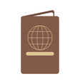 closed passport icon image vector image vector image