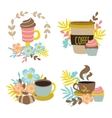 Coffee Drinks Hand Drawn Concept vector image