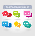 colorful speech bubble signs vector image vector image