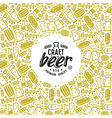 Craft beer brewery frame and label vector image vector image