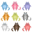 cute colorful cats set vector image vector image