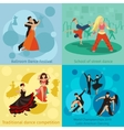 Dancing styles concepts set vector image