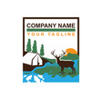 deer animal wild north life animal with north vector image vector image