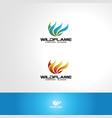 fire logo - wild flame vector image
