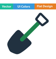 Flat design icon of camping shovel vector image
