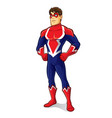 friendly superhero proud vector image vector image