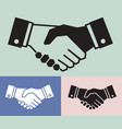 handshake icon set on vintage background business vector image